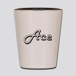 Ace Classic Style Name Shot Glass