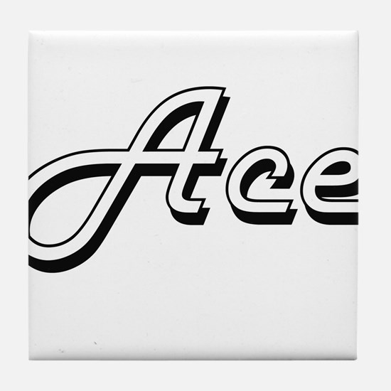Ace Classic Style Name Tile Coaster