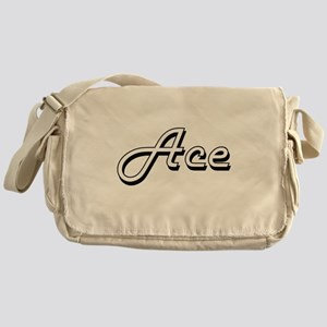 Ace Classic Style Name Messenger Bag