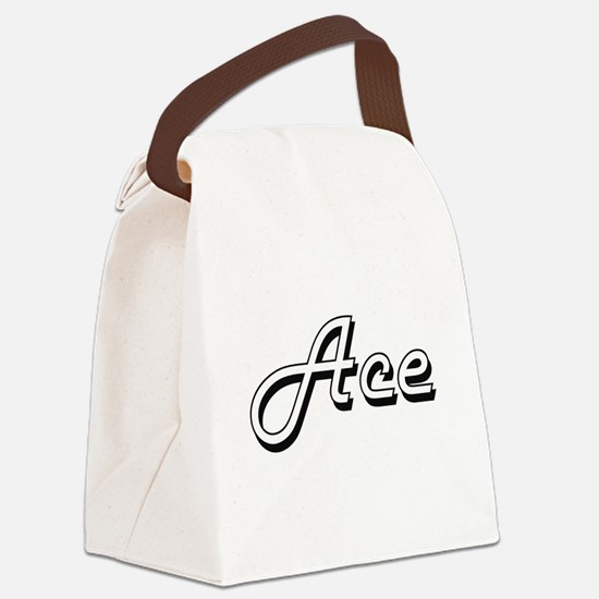 Ace Classic Style Name Canvas Lunch Bag