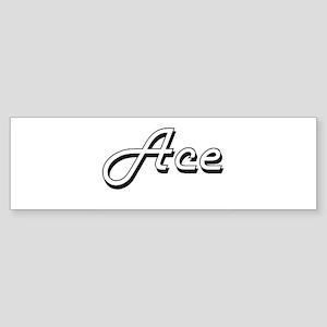 Ace Classic Style Name Bumper Sticker