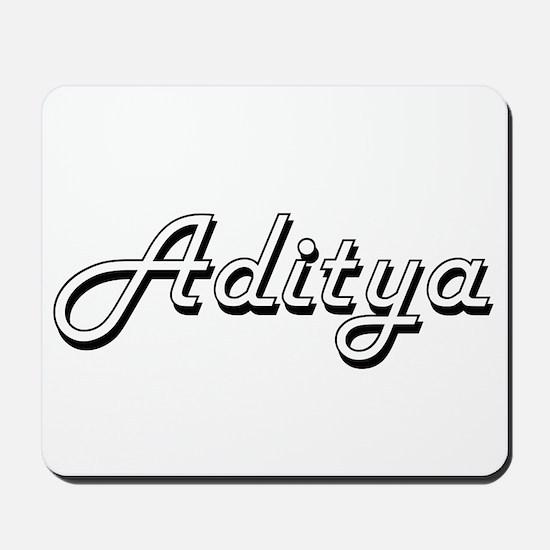 Aditya Classic Style Name Mousepad