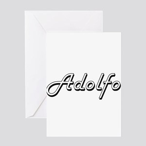 Adolfo Classic Style Name Greeting Cards