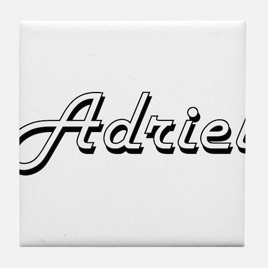Adriel Classic Style Name Tile Coaster