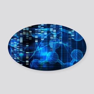 Genetic Science Research Oval Car Magnet