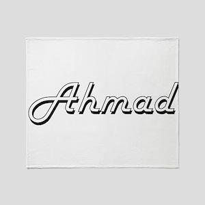 Ahmad Classic Style Name Throw Blanket