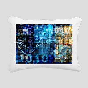 Digital Image Background Rectangular Canvas Pillow