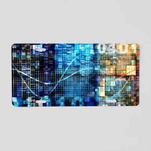 Digital Image Background Aluminum License Plate