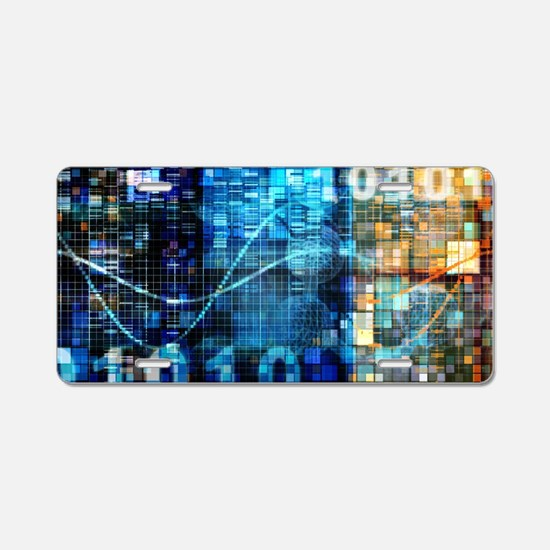 Digital Image Background Aluminum License Plate