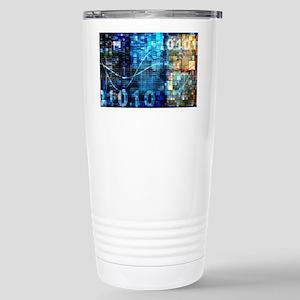 Digital Image Backgroun Stainless Steel Travel Mug