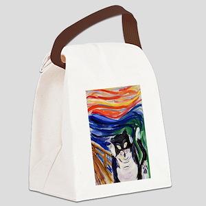 Kitty Scream Canvas Lunch Bag