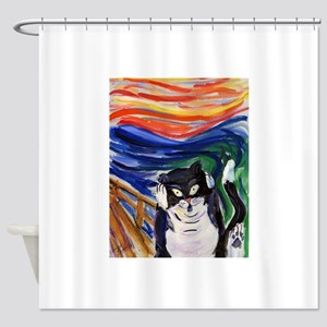 Kitty Scream Shower Curtain