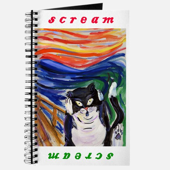 The Kitty Scream Painting Personal Art Journal