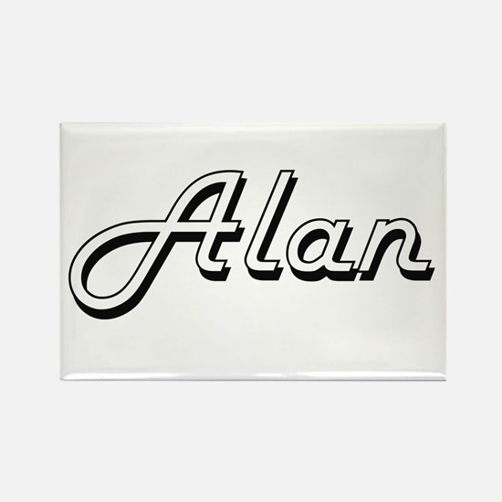 Alan Classic Style Name Magnets