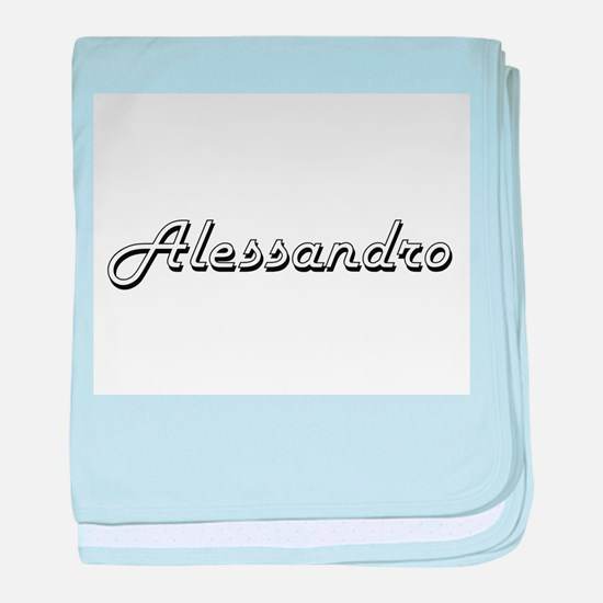 Alessandro Classic Style Name baby blanket