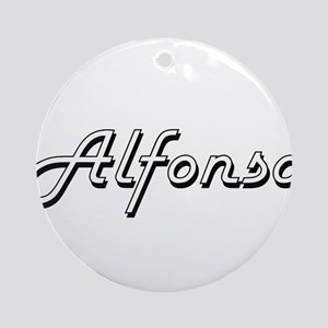 Alfonso Classic Style Name Ornament (Round)