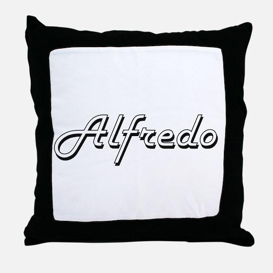 Alfredo Classic Style Name Throw Pillow