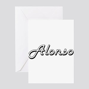 Alonso Classic Style Name Greeting Cards