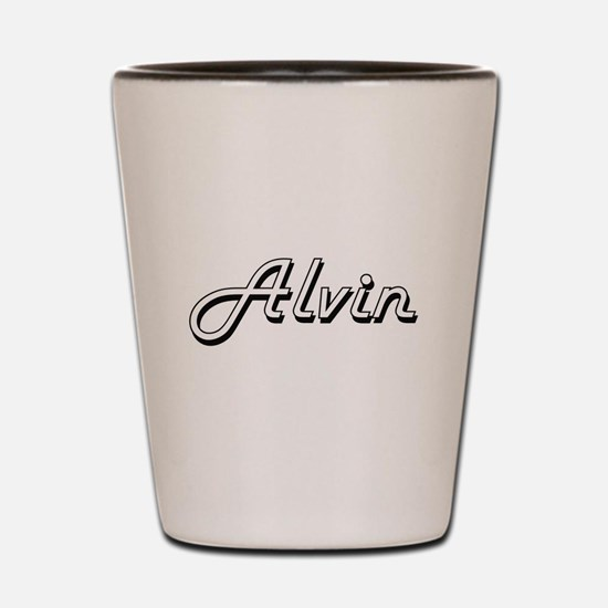 Alvin Classic Style Name Shot Glass