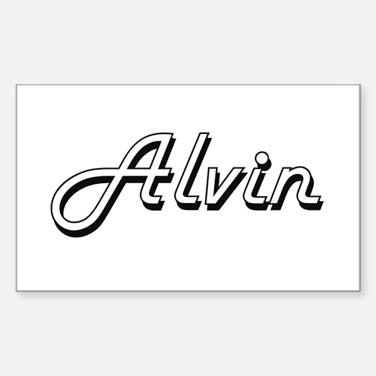 Alvin Classic Style Name Decal