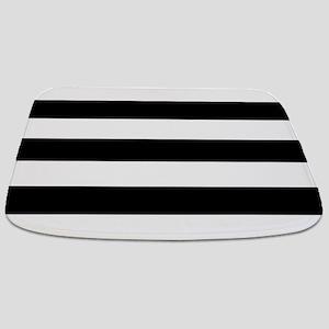 Black & White Stripes Bathmat
