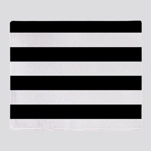 Black & White Stripes Throw Blanket