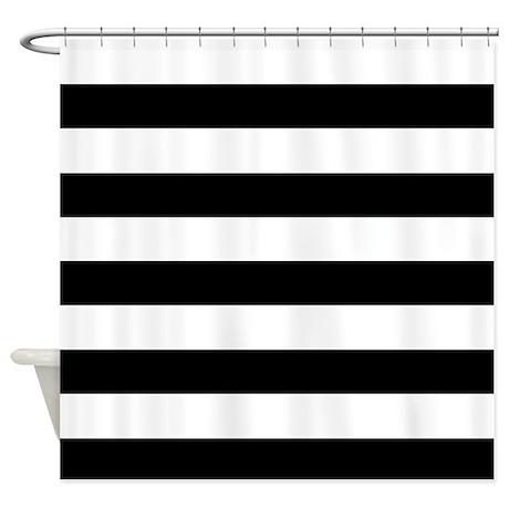Black U0026 White Stripes Shower Curtain