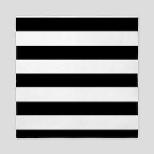 Black & White Stripes Queen Duvet