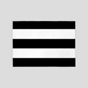 Black & White Stripes 5'x7'Area Rug