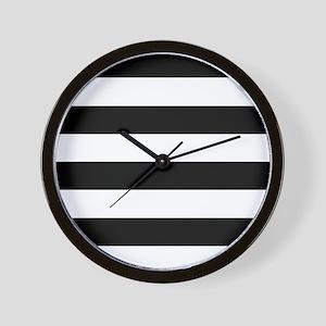 Black & White Stripes Wall Clock