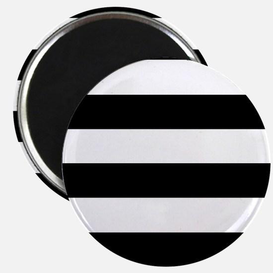 """Black & White Stripes 2.25"""" Magnet (10 pack)"""