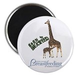 Born To Breastfeed Giraffe Magnet Magnets