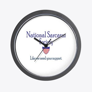 National Sarcasm Society Wall Clock