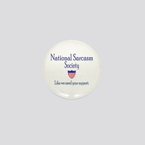 National Sarcasm Society Mini Button
