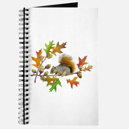 Squirrel Oak Acorns Journal
