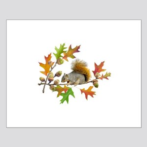 Squirrel Oak Acorns Small Poster