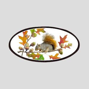 Squirrel Oak Acorns Patch