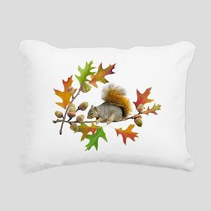 Squirrel Oak Acorns Rectangular Canvas Pillow