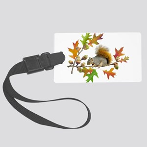 Squirrel Oak Acorns Large Luggage Tag