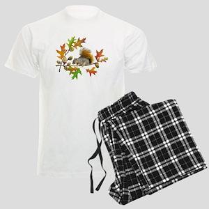 Squirrel Oak Acorns Men's Light Pajamas