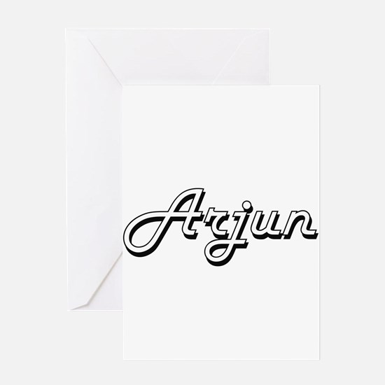 Arjun Classic Style Name Greeting Cards