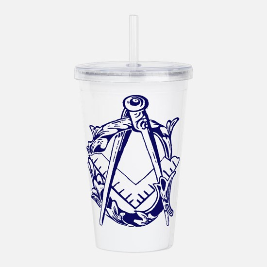 Square and Compass Acrylic Double-wall Tumbler