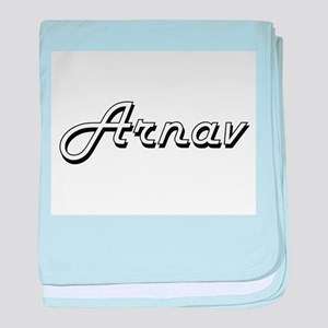 Arnav Classic Style Name baby blanket