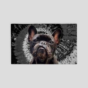 Black Pug Area Rug