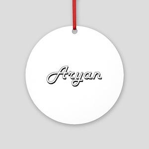 Aryan Classic Style Name Ornament (Round)