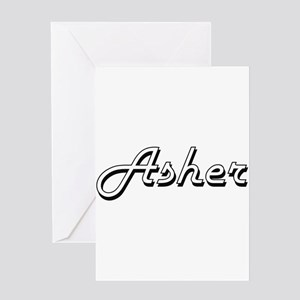 Asher Classic Style Name Greeting Cards