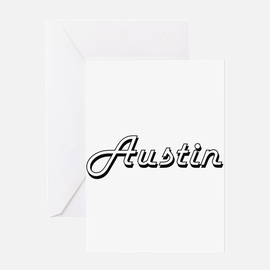 Austin Classic Style Name Greeting Cards