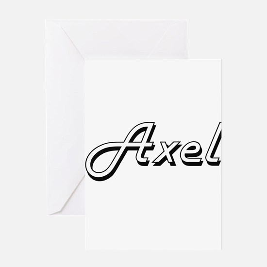 Axel Classic Style Name Greeting Cards