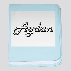 Aydan Classic Style Name baby blanket