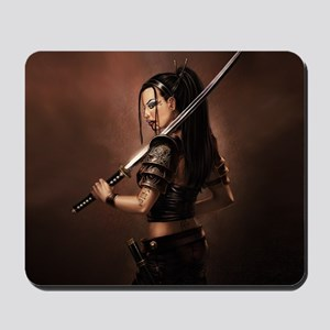Woman Assassin With Sword Mousepad